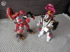 Lot de 2 Transformer Power Rangers Dino taille minimum 16 cm ils se transforment…