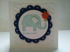 Thanks a Ton Note by stampinlyndsey - Cards and Paper Crafts at Splitcoaststampers