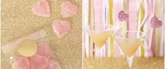 In love with the 14 Days of Valentine's Day ideas from @TomKatStudio This idea? Pink heart gumdrops valentine martini