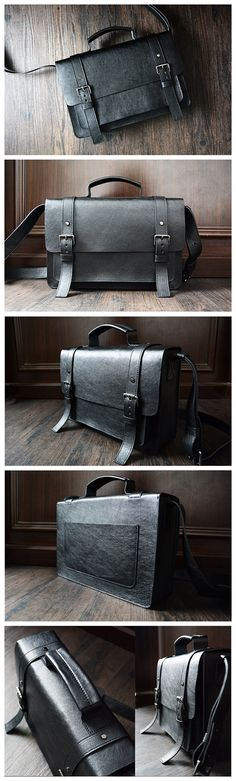 Custom Handmade Leather Briefcase, Messenger Bag Shoulder Bag Men's Handbag
