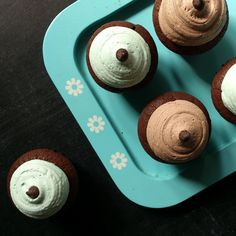 Mini double choco and minty berry coco cupcakes #cupcakes #minicupcakes #deliveryorder #jakarta #dessert #gift #food - @virakeiserini- #webstagram