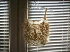 Stunning irish crochet lace camisole victorian ivory