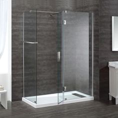 Ove Decors Nevis 32 In X 60 81 5 Walk Shower Kit With Reversible Drain White
