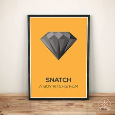 SNATCH de Guy Ritchie Brad Pitt film minimaliste Bureau impression typographie cadeau inspiration motivationnelle Decor Quote affiche taille faite sur commande
