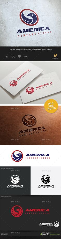 America Logo Template #design Download: http://graphicriver.net/item/america-logo/10140317?ref=ksioks