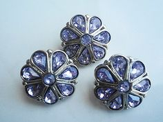 3 Light Purple Rhinestone ButtonsTear Drop by TheButtonSisters, on etsy.