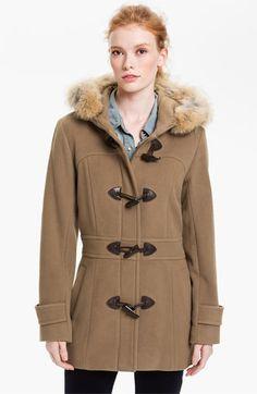 Marc New York Duffle Coat. Love this model;) I miss my first roommate, Julia! #wintercoat #model #friend