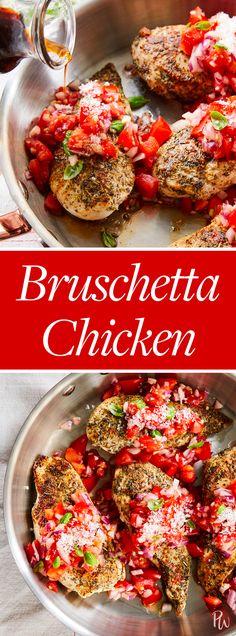 Bruschetta Chicken #purewow #food #recipe #easy #summer #dinner #cooking