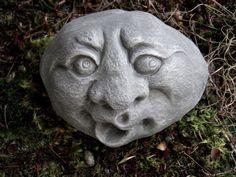 Garden Rock Face Concrete Garden Face Funny By WestWindHomeGarden