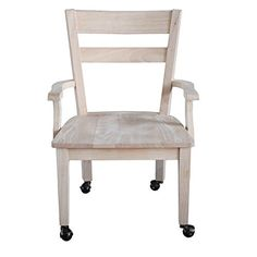 International Concepts C226 Dining Chair with Casters Unfinished *** Read more  at the image link.Note:It is affiliate link to Amazon. #follower