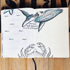 """if you are looking for gorgeous ocean bullet journal layout inspiration you are coming to the right place! We have collected over 50 gorgeous ocean bullet journal spreads, including a """"how-to"""" video and. March Bullet Journal, Journal Fonts, Bullet Journal Notebook, Bullet Journal School, Bullet Journal Inspo, Bullet Journal Spread, Bullet Journal Layout, Bullet Journal Ideas Pages, Journal Pages"""