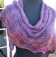 Feather and Fan Love Shawl pattern by Lila Agnew
