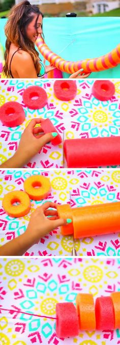 Noodle Garland   DIY Pool Party Ideas for Teens