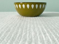 CATHRINEHOLM Lotus BOWL tiny olive green bowl