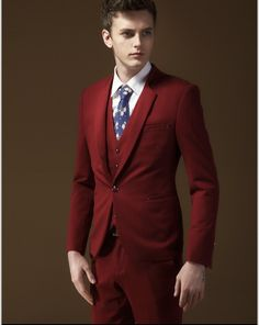 Custom Men Suits (19) #redsuit #sutiforthin #menssuits