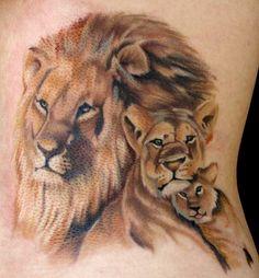 Lion Pride Tattoo By Nautilus Tattoo Good Family Tattoo, Family Tattoos For Men, Family Tattoo Designs, Lion Tattoo Design, Pride Tattoo, Queen Tattoo, Tattoo You, Tattoo Pics, Lion And Lioness Tattoo