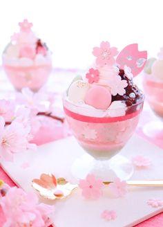 Cute Snacks, Cute Desserts, Delicious Desserts, Yummy Food, Japanese Snacks, Japanese Sweets, Japanese Food, Japanese Wagashi, Kawaii Dessert