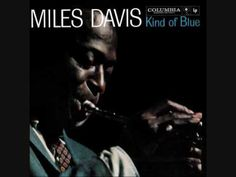 """""""Blue in Green"""" Miles Davis album """"Kind of Blue"""" It featured Davis's ensemble sextet, with pianist Bill Evans, drummer Jimmy Cobb, bassist Paul Chambers, saxophonists John Coltrane and Julian """"Cannonball"""" Adderley - most all time influential jazz records. Miles Davis, Jazz Songs, Music Songs, Music Videos, Blue In Green, Kind Of Blue, Jazz Artists, Jazz Musicians, Louis Armstrong"""