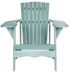 Safavieh Mopani Chair Ash Gray Wood Patio Adirondack Chair With Wood Adirondack Chairs, Patio Chairs, Outdoor Chairs, Outdoor Decor, Room Chairs, Ikea Chairs, Rustic Outdoor, Outdoor Ideas, Pink Chairs