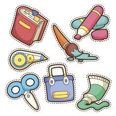 Printable Stickers, Cute Stickers, Planner Stickers, Kindergarten, School Tool, School Clipart, School Sets, Preschool Printables, Classroom Decor