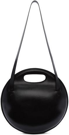 12b2768b94 Lemaire - Black Round Bag | Architect's Fashion Architect Fashion, Triangle  Bag, Round Bag