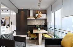 Porta de vidro de correr para varanda gourmet Decor, Furniture, Interior, Interior Inspiration, Modern Loft, Home Decor, Residential Interior Design, Interior Design, Residential Interior