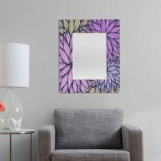 Gabi Purple Dahlia Rectangular Mirror | DENY Designs Home Accessories #pantone #coloroftheyear #radiantorchid
