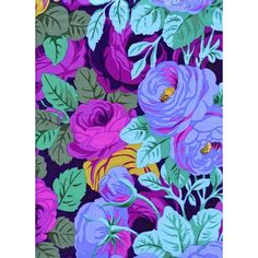 Phillip Jacobs Rambling Rose Violet Fabric