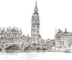 1 Hour Sketch- London, England by FrozenArk.deviantart.com