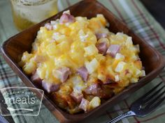 Cheesy Potatoes and Ham | Once A Month Meals | Freezer Cooking | OAMC