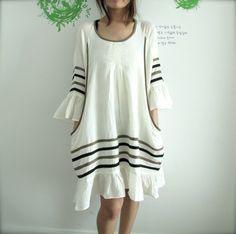 Chic Bohemian Dress in White