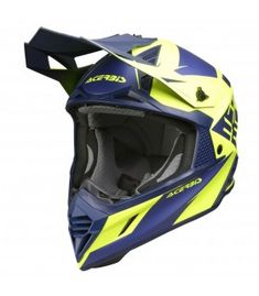 Casco cross Acerbis X-track blu Super Bikes, Motorcycle Helmets, Motocross, Dirt Bikes, Dirt Biking, Motorcycle Helmet