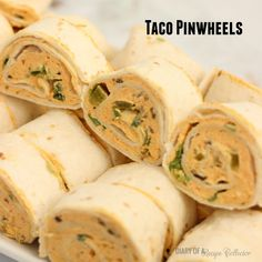 Taco Pinwheels. This looks yummy. i will try this with wheat roti and lots of veggies.