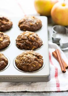 Moist Gingerbread Muffins made with molasses, whole wheat flour, and warm holiday spices. Easy, healthy recipe that's perfect for Christmas morning or Thanksgiving!