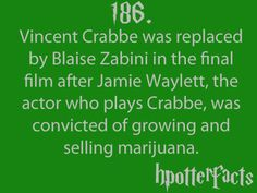 Just so everyone knows why Crabbe changed the most. Interesting ^