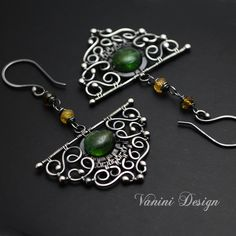 Evergreen-Fine/Sterling silver and tourmaline earrings | Flickr