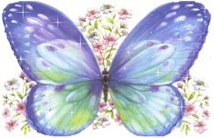 Pretty Butterfly spring flowers butterfly glitter animated gif sparkle