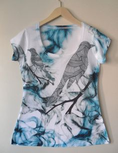 New Blue Birdies Special Design Women Top one by nikacollection, $35.00 Etsy