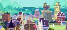 Background Designs da série Zip Zip, do Disney Channel | THECAB - The Concept Art Blog
