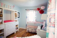 Great ideas to use the color Blue for a girls room #decor #nursery