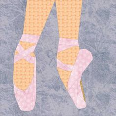 "Ballet Shoes- a 10"" Paper Pieced Pattern by thetartankiwi"