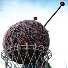 The world's largest ball of yarn (Bozeman, Montana)our next road trip Kat. Montana, Statues, Big Sky Country, Cross Country, Roadside Attractions, Roadside Signs, Wow Art, Water Tower, Road Trippin
