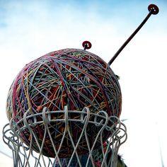 The world's largest ball of yarn (Bozeman, Montana)