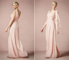 A fehér szín ma már nem kötelező, egy tompa rózsaszínben karcsúbbnak tűnhetsz, főleg, ha ilyen egyszerű szabásút választasz, ami cseppet sem nélkülözi az eleganciát.