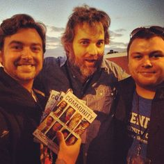 Brother and I got to harass #DANHARMON at the first annual Communicon. He finally signed our DVD's so we'd go away.