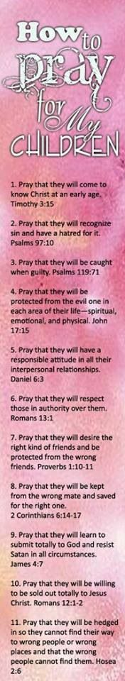 How to pray for your children