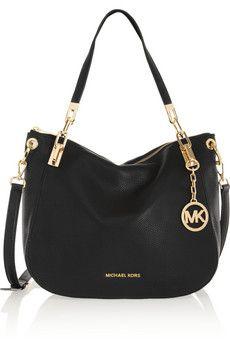 MICHAEL Michael Kors Brooke textured-leather shoulder bag   NET-A-PORTER