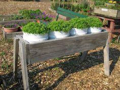 Container gardening, a superb take on charming gardening suggestions, post number 8681907726 Garden Box Plans, Garden Boxes, Garden Planters, Diy Planters, Bucket Gardening, Container Gardening, Lawn And Garden, Fence Garden, Veg Garden