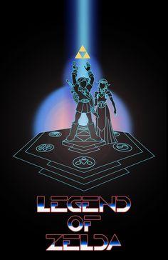 The Legend of Zelda: Tron Style by Dalton B.