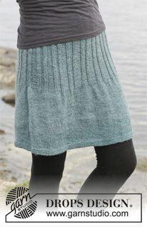 """Falda de punto DROPS en punto jersey con resorte, en """"Karisma"""". Talla: S – XXXL. ~ DROPS Design"""